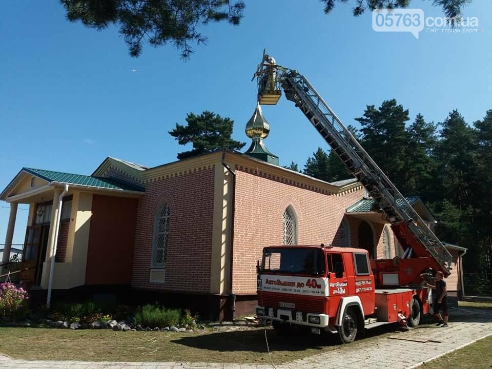 В Свято-Иоанно-Богословском храме установили накупольный крест, фото-9
