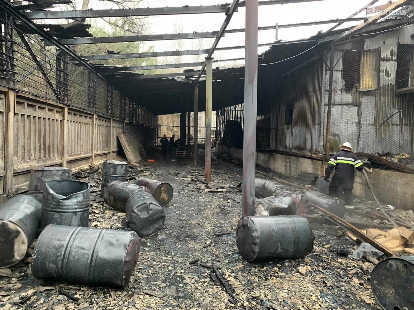 В Дергачевском районе сгорел цех по изготовлению моющих средств, фото-1
