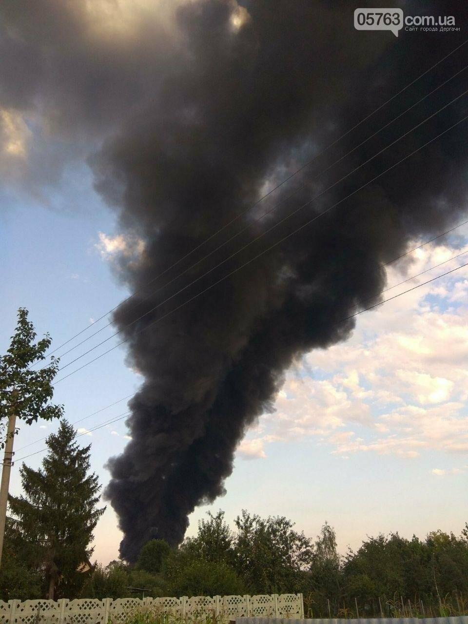 В Безруках крупный пожар (Видео), фото-1