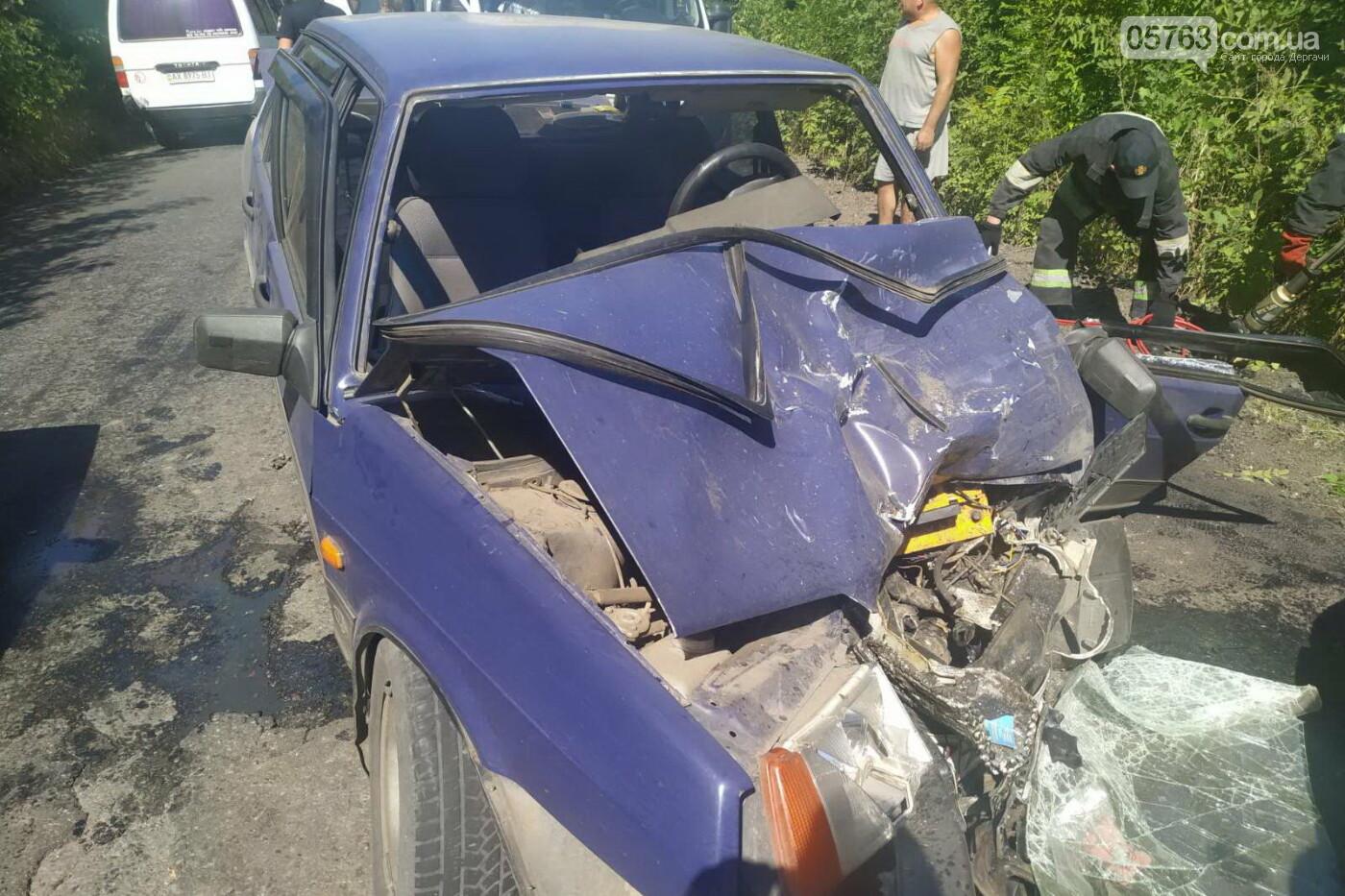 Авария в Дергачевском районе, есть пострадавшие, фото-1