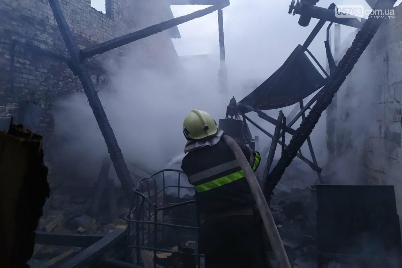Крупный пожар в Дергачевском районе (ВИДЕО), фото-1