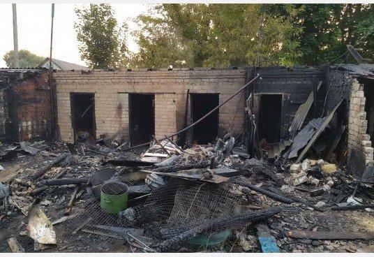 В Дергачевском районе очередной пожар, фото-1