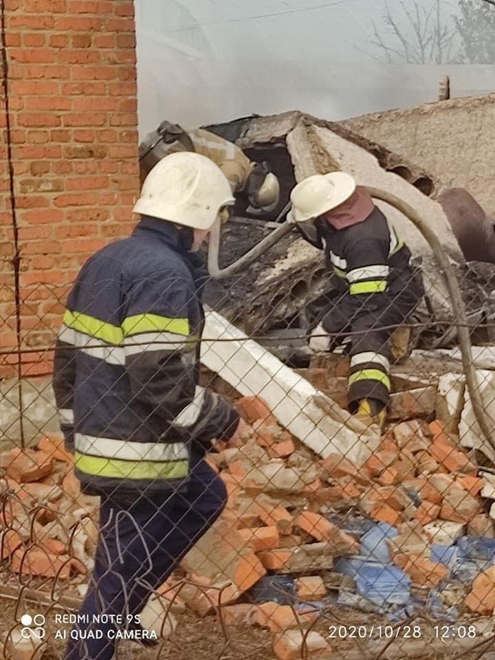 Мощный взрыв на газораспределительной cтанции в Дергачевском районе (фото), фото-1