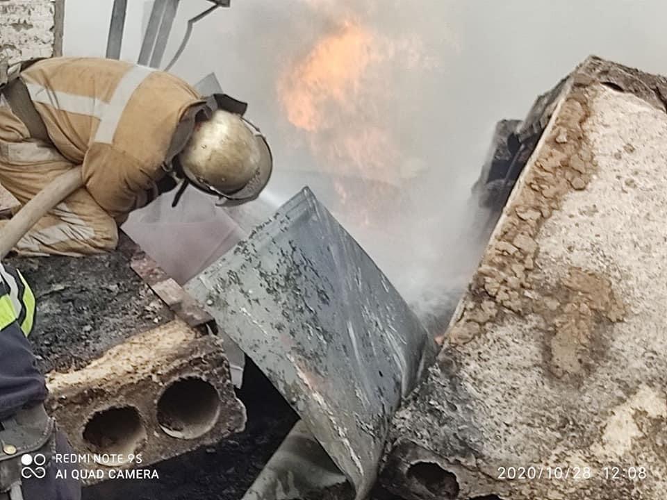 Мощный взрыв на газораспределительной cтанции в Дергачевском районе (фото), фото-2
